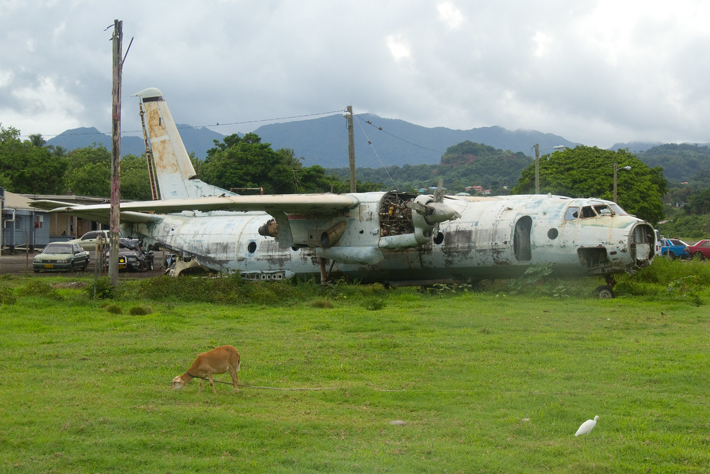 Destroyed Cuban Airliner Pearls Airport Grenada 2