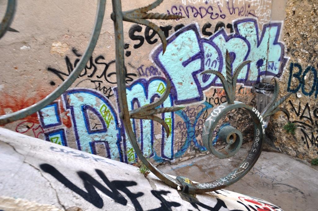Graffiti in Le Panier, Marseille's Oldest Quarter, France, Sept. 2013