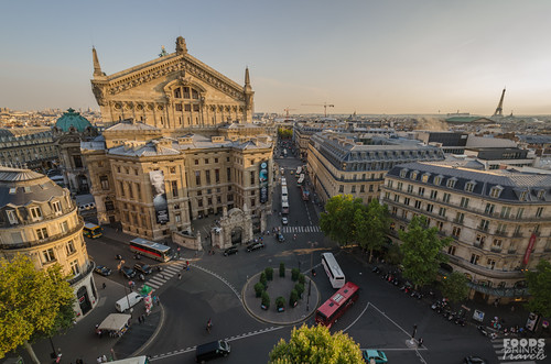 Paris Cityscape - from Galeries Lafayette