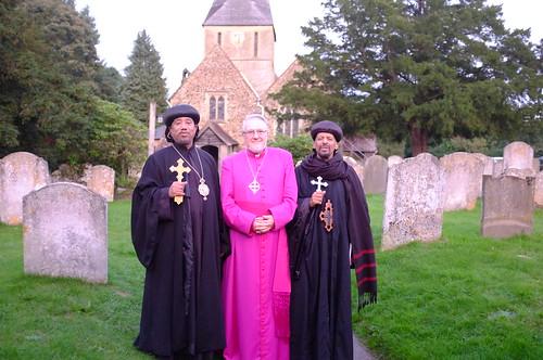 His Grace Archbishop Abba Yacob; Bishop Geoffrey Rowell, His Grace Archbishop Abba Gabriel
