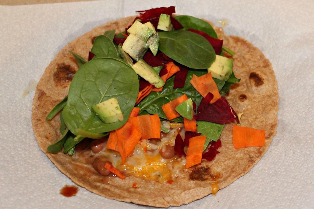 Meatless Soft Taco - Flat