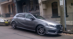 mercedes-benz m-class(0.0), automobile(1.0), automotive exterior(1.0), family car(1.0), wheel(1.0), vehicle(1.0), mercedes-benz(1.0), rim(1.0), mercedes-benz a-class(1.0), mercedes-benz b-class(1.0), mid-size car(1.0), compact car(1.0), bumper(1.0), land vehicle(1.0), luxury vehicle(1.0), hatchback(1.0),