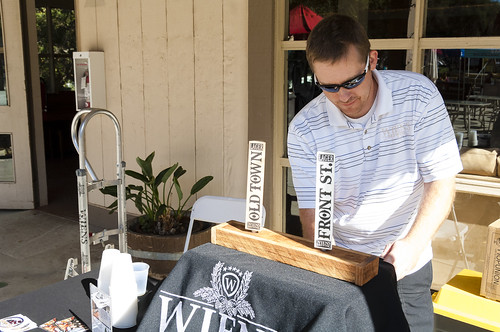 Wiens Brewery on hand pouring for at the Old West Race finish line, Crispin Courtenay, Flickr
