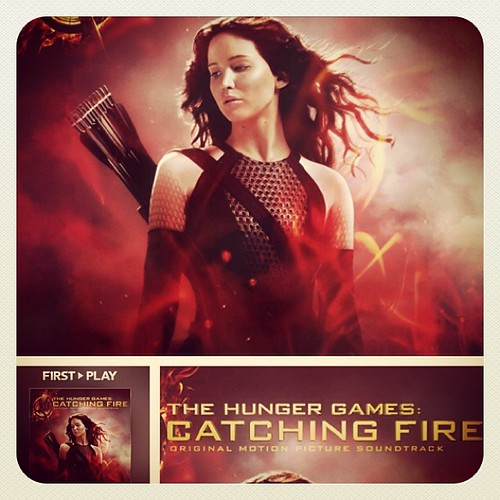 #catchingfire Soundtrack on #iTunesRadio Love it! Featuring @coldplay ! #movie #hungergames www.therabbitandtherobin.co.za {follow me @robindeel on Instagram} Official @rabbitandrobin