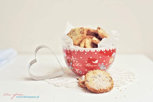 ciastka z żurawiną - przepis i zdjęcia