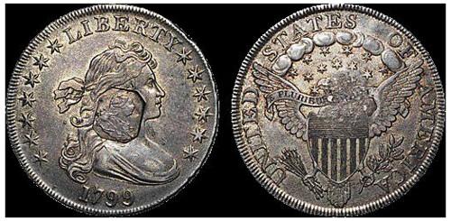 Counterstamped 1799 dollar