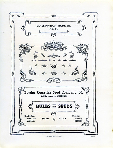Miller and Richard Borders and Ornaments type specimen