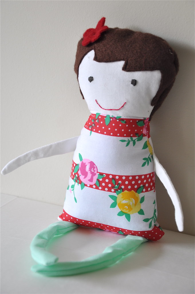 black apple doll martha stewart tutorial handmade christmas gift present easy