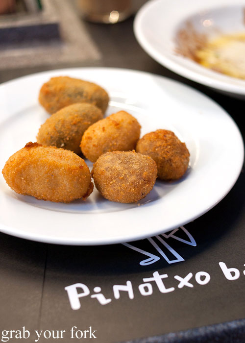 Croquettes at Bar Pinotxo tapas bar, La Boqueria, Barcelona