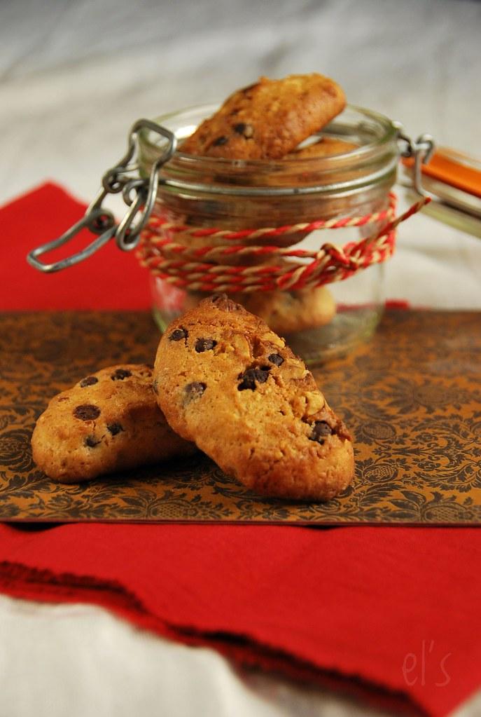 cookies aux noisettes et p pites de chocolat recette tangerine zest. Black Bedroom Furniture Sets. Home Design Ideas