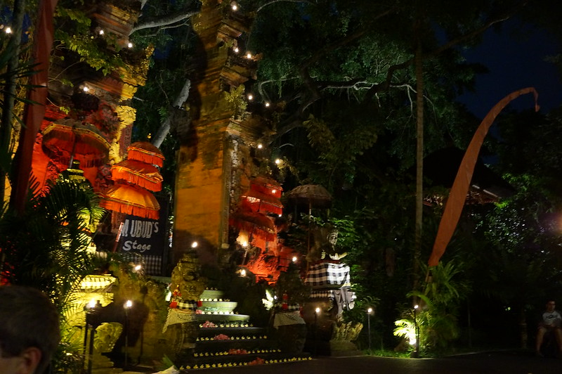 Entrance to the 'outdoor theatre' in Ubud where 'Kecak Ramayana and Fire Dance' show takes place.