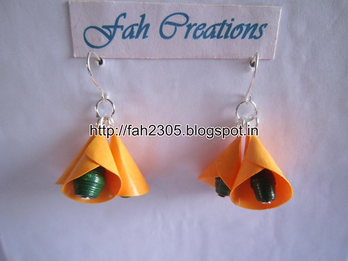 Handmade Jewelry - Paper Cone Bell Earrings (7) by fah2305