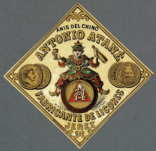 019- Etiquetas de bebidas. Figuras y retratos de hombres -1890 - 1920 - Biblioteca Digital Hispánica