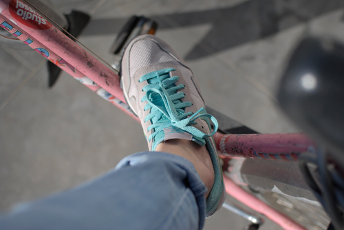 Nike and bike