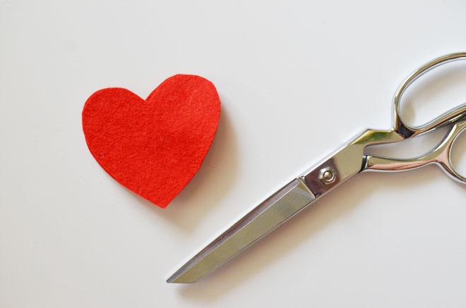 sweetheart felt hair clip