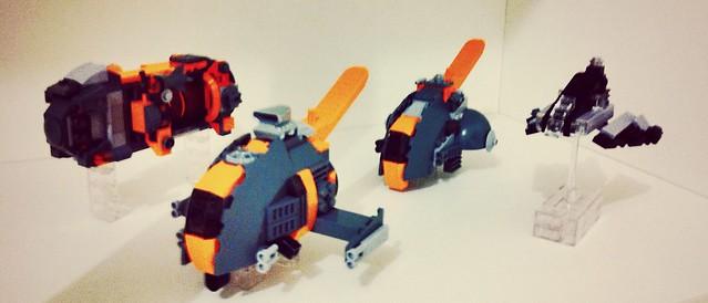 Lego space miniscale