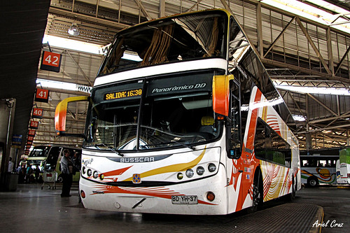 Atacama Vip (Pullman Bus) en Santiago | Busscar Panorâmico DD - Volvo / BDYH37 (HDR)
