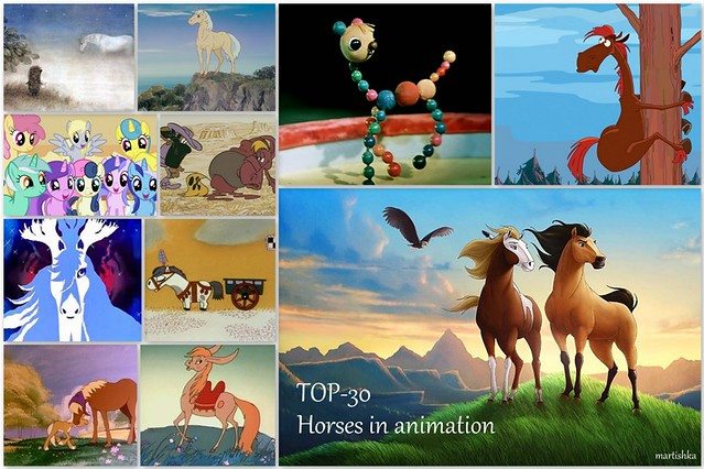 Horses in animation