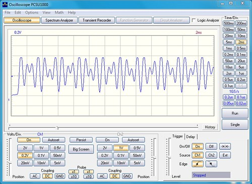 DTMF 0 Waveform (DC Coupled)