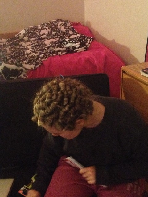 Giving her the tightest pincurls