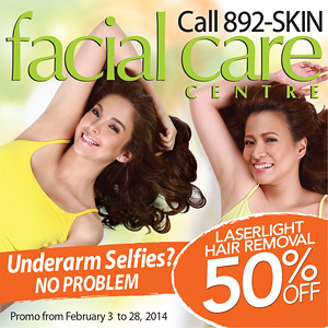 Facial Care Center ad at Earthlingorgeous