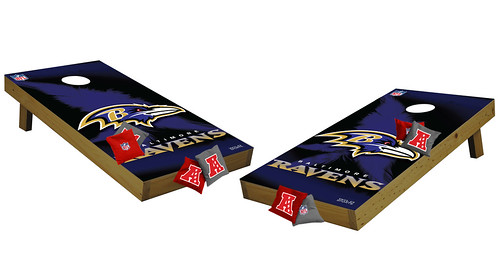 Baltimore Ravens Premium Cornhole Boards
