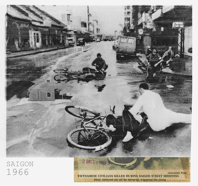 1966 Civilians killed during Saigon street Shooting - News Service Photo - Đường Hai Bà Trưng & Công trường Lam Sơn