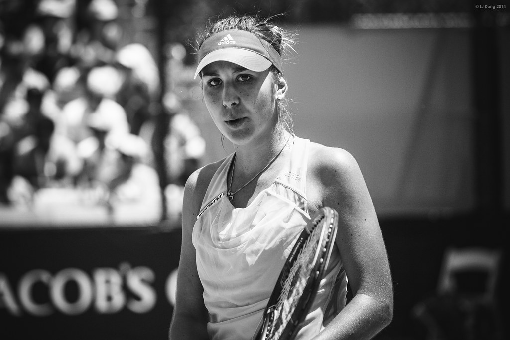 Australian Open - Belinda Bencic - Black and White