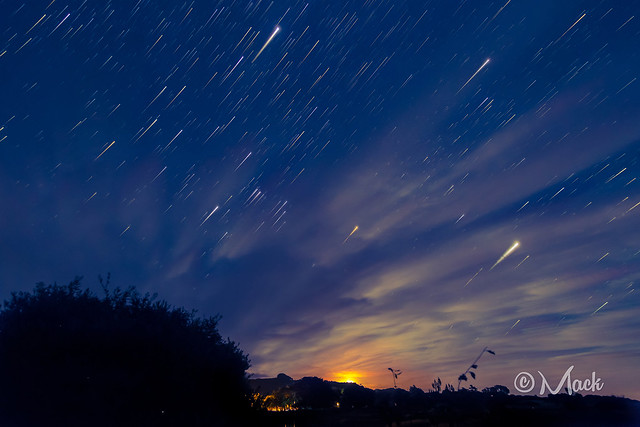 Moonset startrails :)