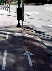 A veces pienso que al ayuntamiento de Madrid no le gustan los ciclistas / Sometimes I think that Madrid council doesn`t like cyclists