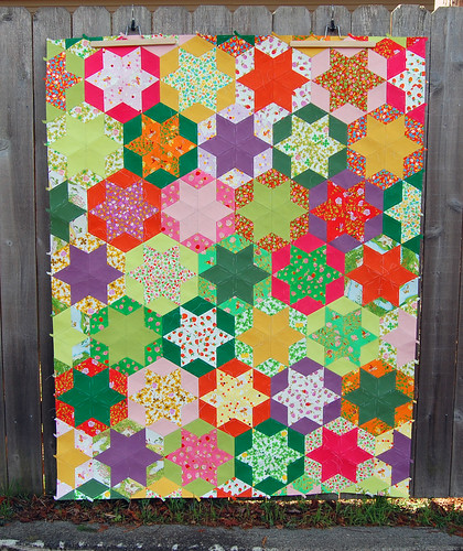 Briar Rose 6-Point Star Quilt
