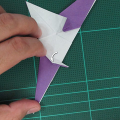 วิธีพับกระดาษเป็นรูปนกอินทรี (Origami Eagle) 026