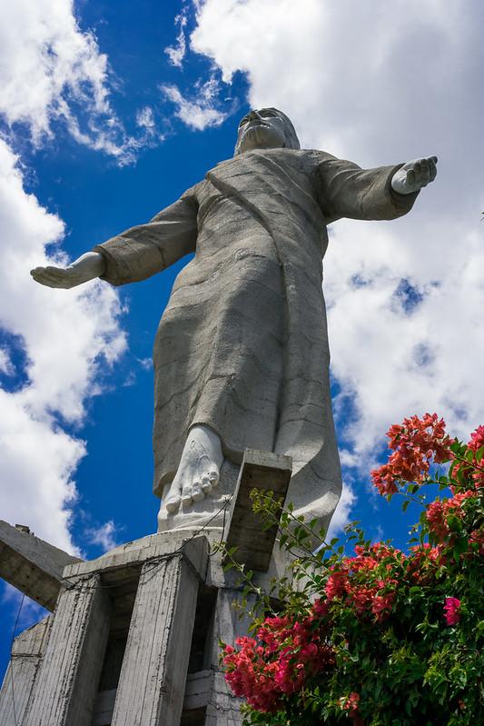 Jesus Christ Statue in Parque Naciones Unidas El Picacho