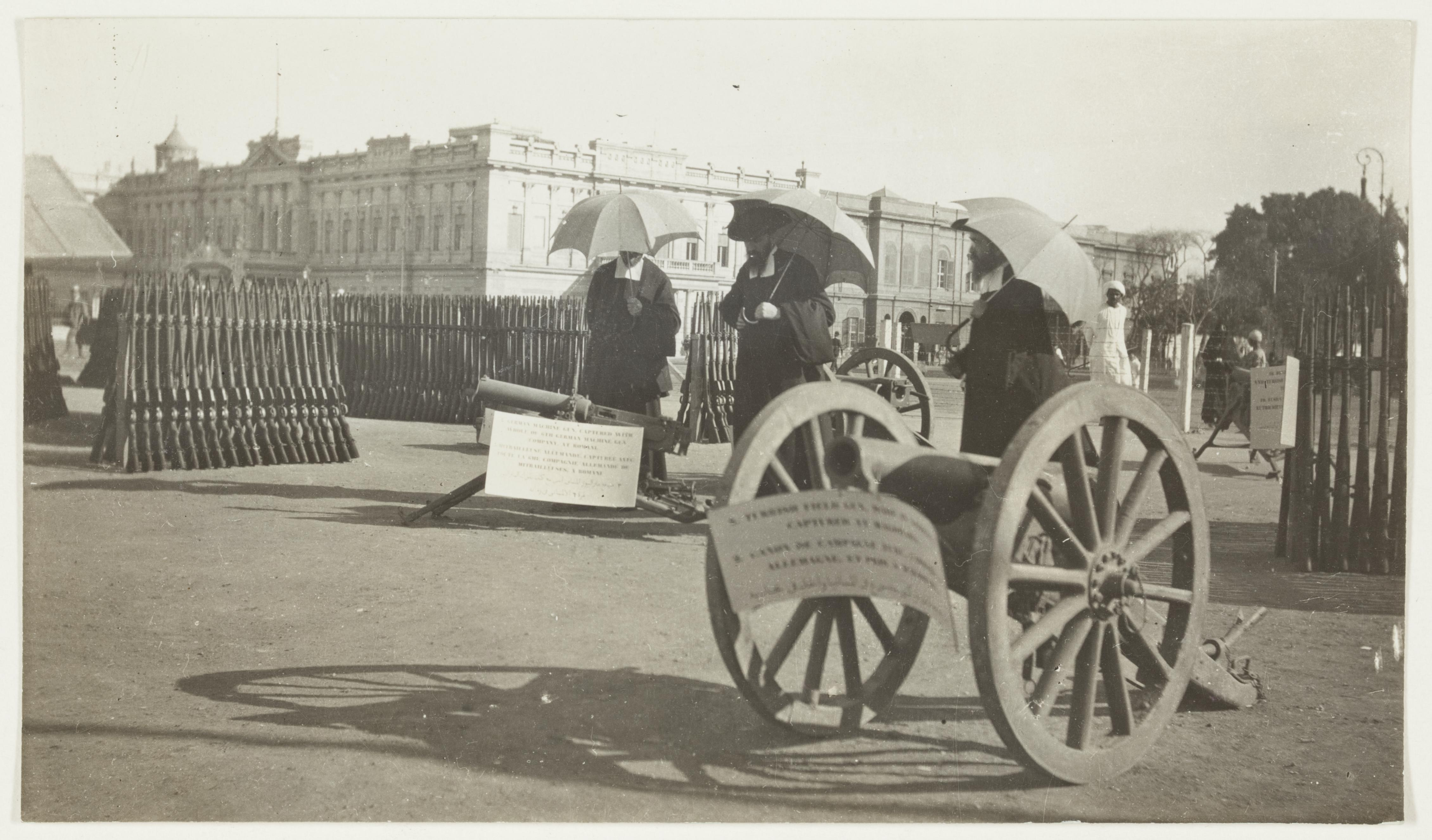 Guns captured at Beersheba  by J.F. Smith of the 7th Light Horse in Egypt and Palestine, c. 1914-1918