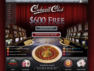 cabaret club casino bonus codes