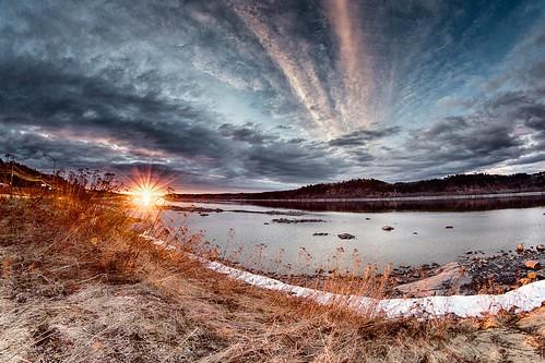 sunset canada canon river spring quebec 7d fjord paysage printemps saguenay coucherdesoleil chicoutimi 2014 québec saguenaylacstjean rivière saguenaylacsaintjean canonef815mmf4lusm printanière paysagedusaguenay