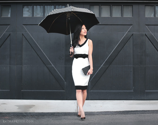 WHBM white dress with bow