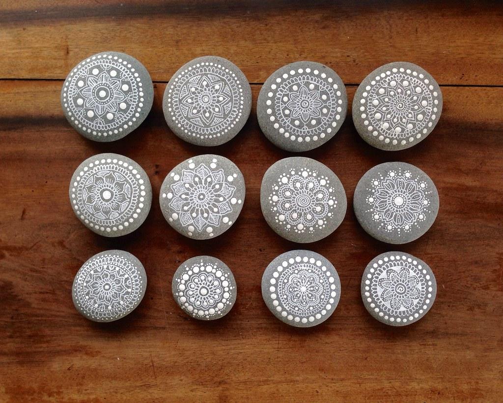 Twelve Painted Pebbles