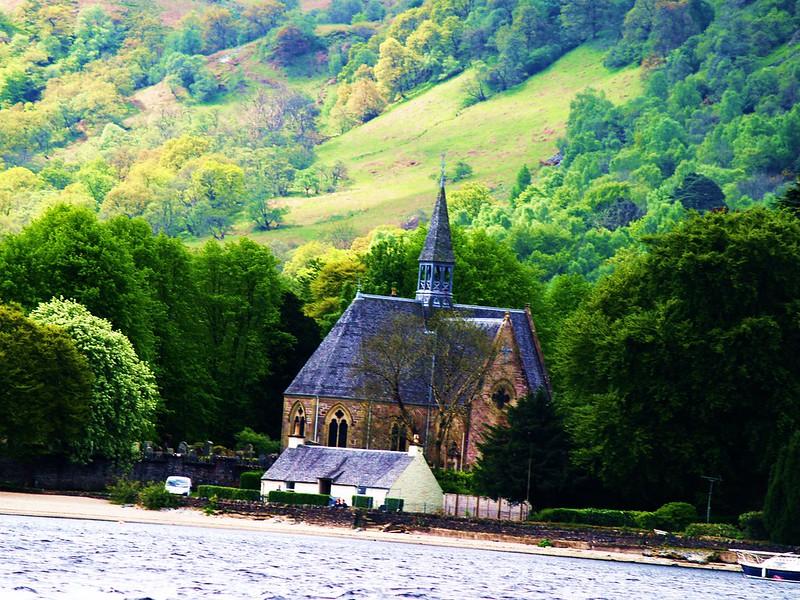 Luss Parish Church on banks of Loch Lomond