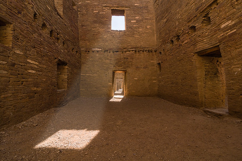 Sunshine streams through the windows at Chaco Culture National Historic Park (photo from Hidden Gems of the Western United States by Daniel Gillaspia)