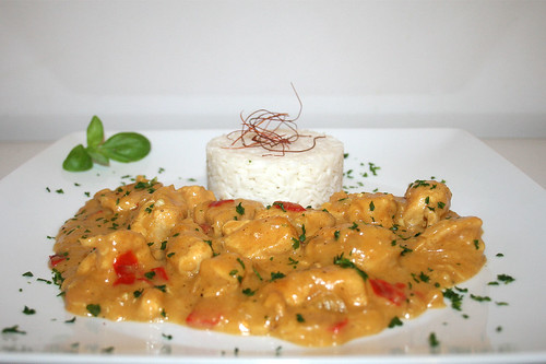 """48 - Oriental chicken stew / Hähnchenpfanne """"1001 Nacht"""" - Seitenansicht"""