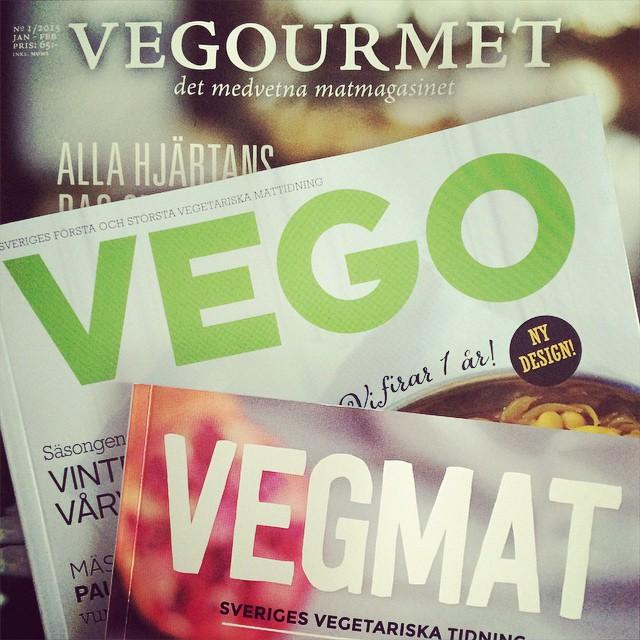Numera finns det tre helt veganska tidningar - rekommenderar prenumeration på alla! #vadveganeräter