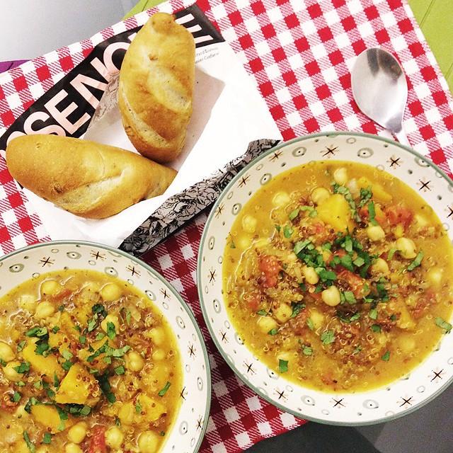 Butternut Squash Chickpea Quinoa Stew