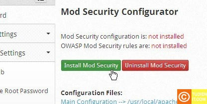 cấu hình bảo mật cho CentOS Web Panel