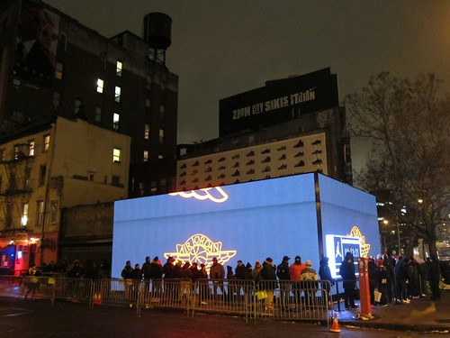 Nike Shoebox line on Bowery