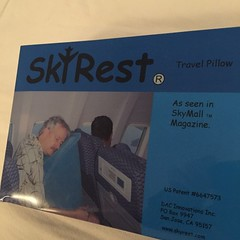 So I actually bought one... Now I just a flight to try it out. #skyrest #skymall