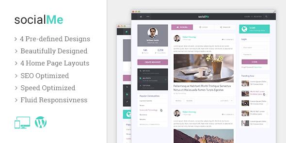 socialMe v1.0.1 – Impress Visitors With a Powerful, Crisp & Fast Social Site