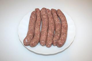 04 - Zutat rohe Bratwürste / Ingredient raw bratwurst