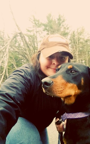 Out for a Walk in the Rain with Penny #DobermanMix #RescuedDog #WalkTheDog #LapdogCreations ©LapdogCreations