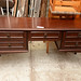 Mahogany long 5 drawer dresser /desk